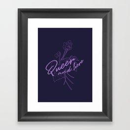 Queer Violets Framed Art Print