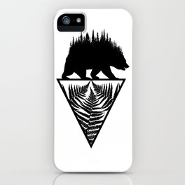 Fern and Bear iPhone Case
