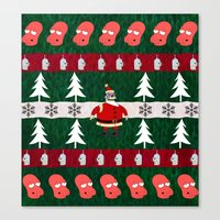 zoidberg Canvas Prints featuring Ugly X-Mas Sweater by fashionsforfans