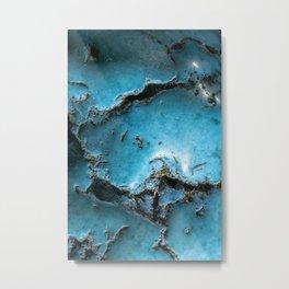 Turquoise stone close up Metal Print