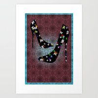 heels Art Prints featuring Heels by Design Treasures