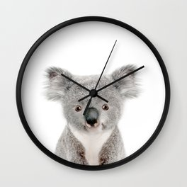 Baby Koala Portrait Wall Clock