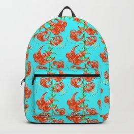 Tiger Lilies (Light Blue Background) Backpack