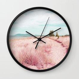 Coastal trail - blush Wall Clock