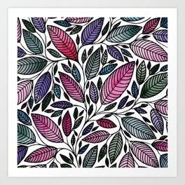 Botanical Floral Leaf Illustration Art Print