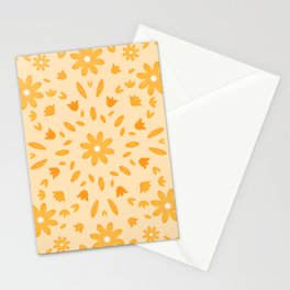 Yellow Flowers Mandala Stationery Cards