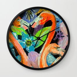 Flamingo lovin' Wall Clock