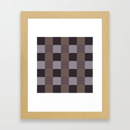 Chequered/Brown Framed Art Print