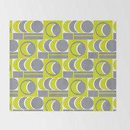 Grey Yellow Relationship Throw Blanket