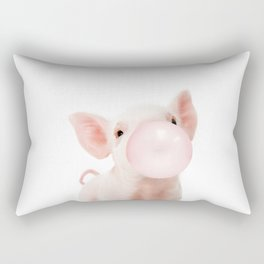 Bubble Gum Baby Pig Rectangular Pillow