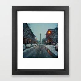 early morning, Mount Vernon Framed Art Print
