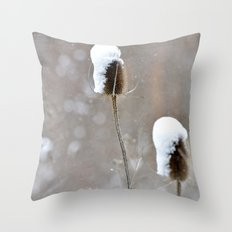 Snow Frosting Throw Pillow