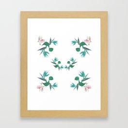 Magical Minimalism Tropical Floral Dinosaur Print Framed Art Print