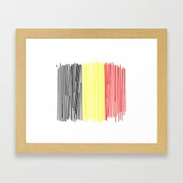 Belgian flag Framed Art Print