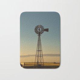 Sunset Windmill Bath Mat