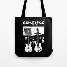 Malcolm Young - AC DC - Guitar - Rock Music - Pop Culture Tote Bag