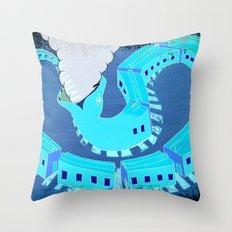 SNAKES OF IRON Throw Pillow