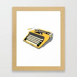 Yellow Typewriter Framed Art Print