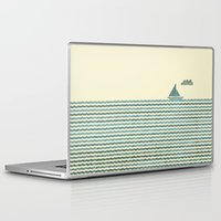 sailboat Laptop & iPad Skins featuring SailBoat by Jeremy Lobdell