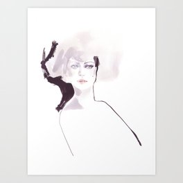 Fashion illustration in pale colors Art Print