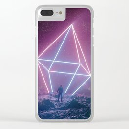Neon Beacon Clear iPhone Case
