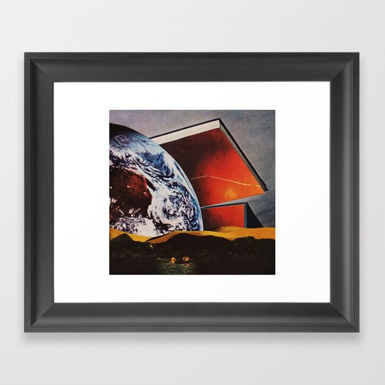in the swing. Framed Art Print