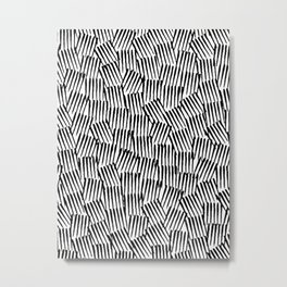 Crosshatched yourself Metal Print