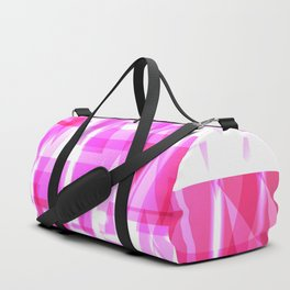 Delicate crystal pink stripes of luminous triangles and ellipse. Duffle Bag