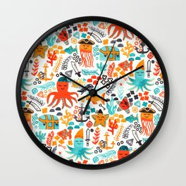 Pirates In The Deep Wall Clock