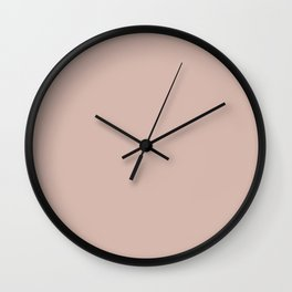 Light Pastel Pink - Rose- Carnation Solid Color Parable to Sunset Curtains 1007-10B by Valspar Wall Clock