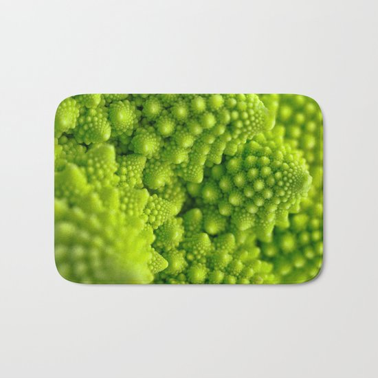 Macro Romanesco Broccoli Bath Mat
