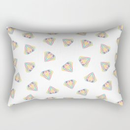 Colorful Diamonds Pattern - gemstones pattern Rectangular Pillow
