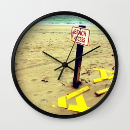 Beach Access Wall Clock