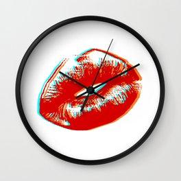 Retro, Lips Arts Wall Clock