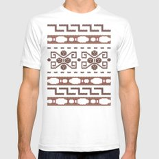 The Dude's Duds SMALL White Mens Fitted Tee