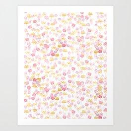 cosmos flower pattern Art Print
