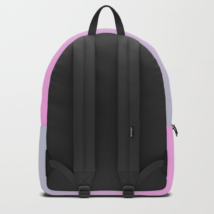 UNLIKE OTHER - Minimal Plain Soft Mood Color Blend Prints Backpack