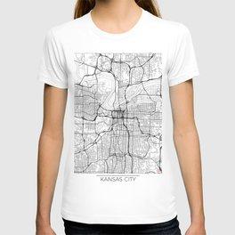 Kansas City Map White T-shirt