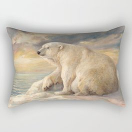 Polar Bear Rests On The Ice - Arctic Alaska Rectangular Pillow
