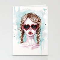 lolita Stationery Cards featuring Lolita by Black Fury
