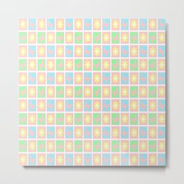 New Shabby Quilt Squares in Pink Metal Print