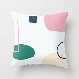 Going to be happy - on white backgroung Throw Pillow