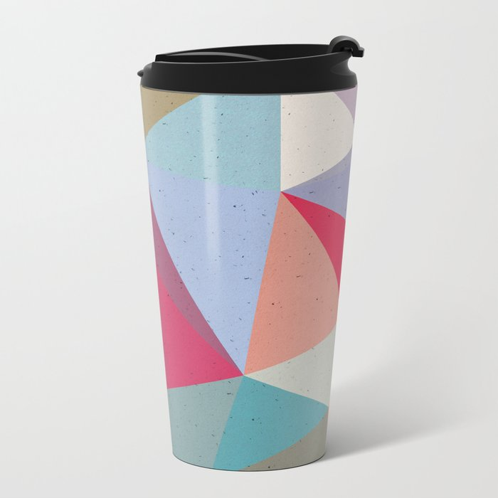 Colourful geometry Metal Travel Mug