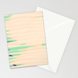 Green Greenery Stripes Stationery Cards