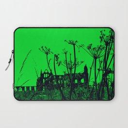 Whitby Abbey in Green Laptop Sleeve