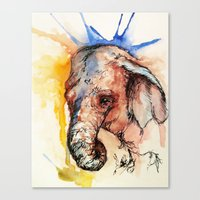 africa Canvas Prints featuring Africa by Abigail Leigh