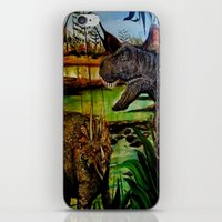 dinosaurs iPhone & iPod Skins featuring DINOSAURS by shannon's art space