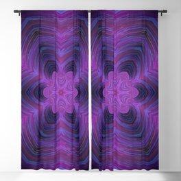 Layered Purple Flower Pattern Blackout Curtain