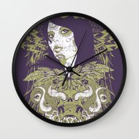 occult Wall Clocks featuring Occult beauty by Tshirt-Factory