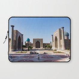 Sunset on Registan square - Samarkand, Uzbekistan Laptop Sleeve